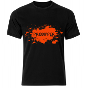 T-shirt Prodipper (Black, Blaze Orange)